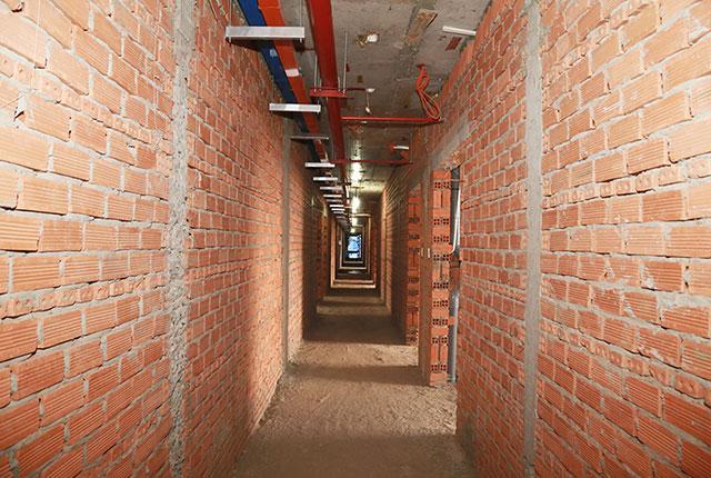 Lắp đặt hệ thống PCCC hành lang tầng 17 Block C