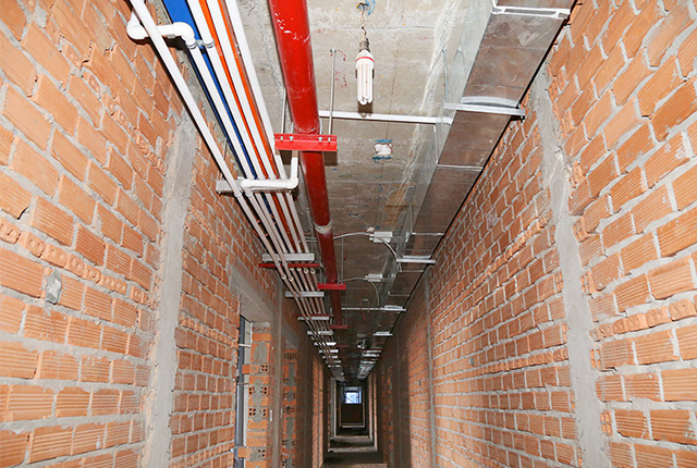Lắp đặt hệ thống PCCC hành lang tầng 17 Block A, B