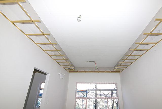 Đóng khung trần thành cao tầng 5 Block A, B