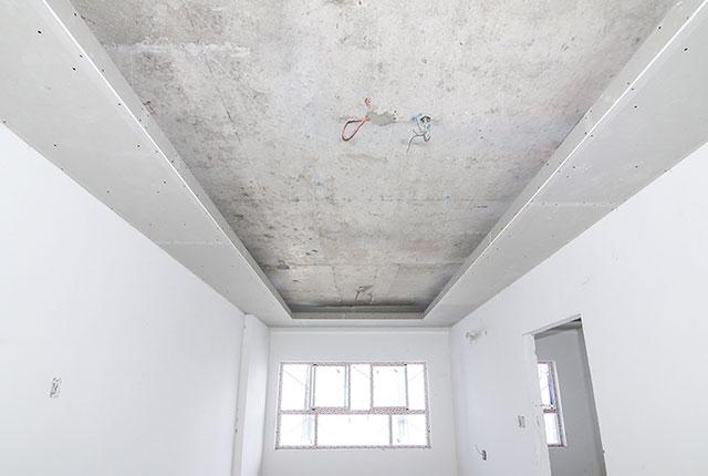 Ốp tấm trần thạch cao căn hộ tầng 17 Block A, B, C