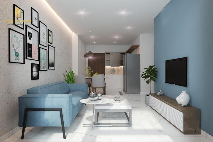 Thiết kế nội thất Vinhomes Grand Park căn hộ 1PN+