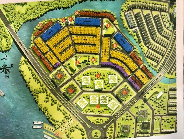 mặt bằng thiết kế aqua city đồng nai