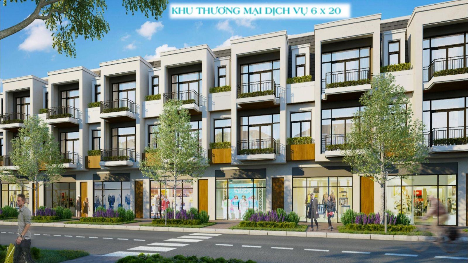 Mẫu Shophouse Aqua City Đồng Nai