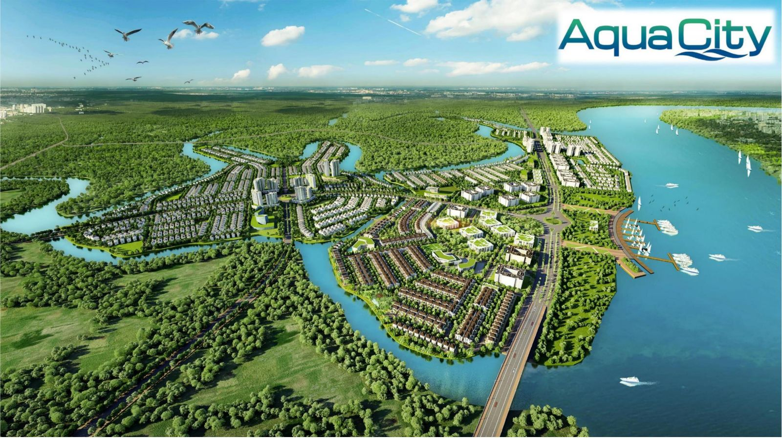 Phối Cảnh Tổng Thể Aqua City Novaland