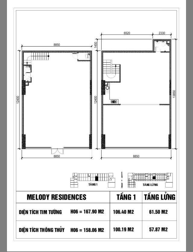 thiết kế căn shophouse H6 Melody Residences