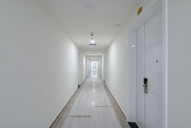 Hoàn thành công tác thi công lắp đặt các thiết bị hành lang căn hộ block B