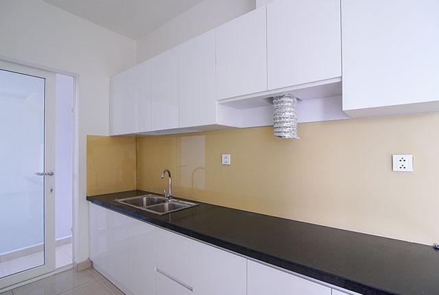 Công tác thi công lắp đặt tủ bếp căn hộ tầng 20 block C