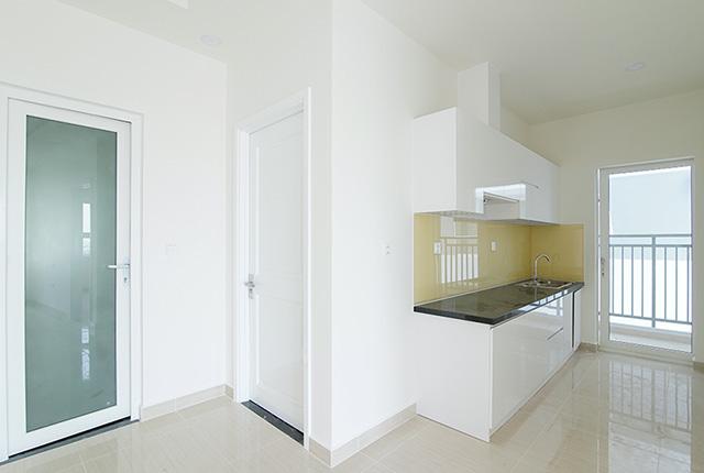 Công tác thi công lắp đặt tủ bếp căn hộ tầng 20 block B