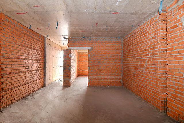 Công tác thi công xây tường tầng 17 block C