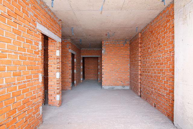 Công tác thi công xây tường tầng 19 block A