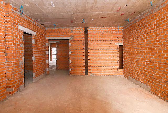 Công tác thi công xây tường tầng 19 block C