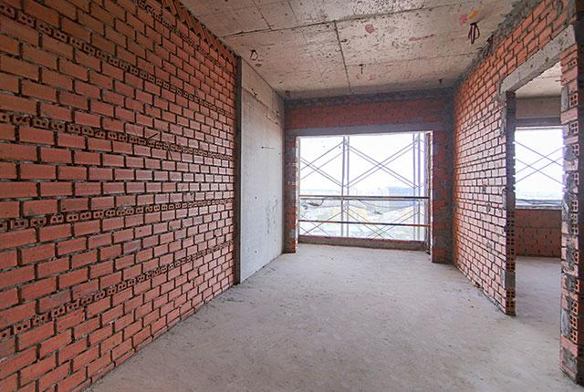 Công tác thi công xây tường tầng 20 block A