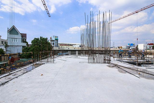 Hoàn thành đổ bê tông sàn tầng 2 block C
