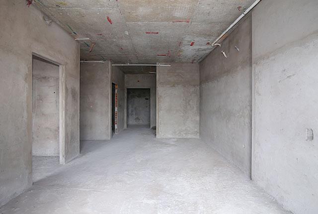 Công tác thi công tô tường căn hộ tầng 9 block B