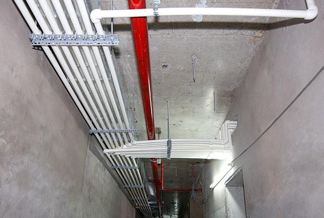 Công tác thi công hệ thống M&E tầng 19 block C