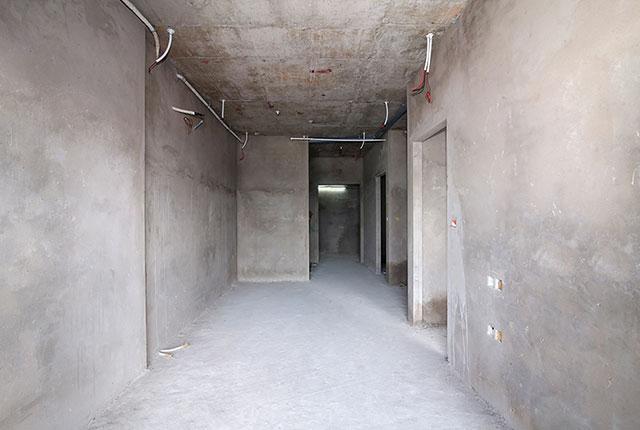 Công tác thi công tô tường căn hộ tầng 13 block B