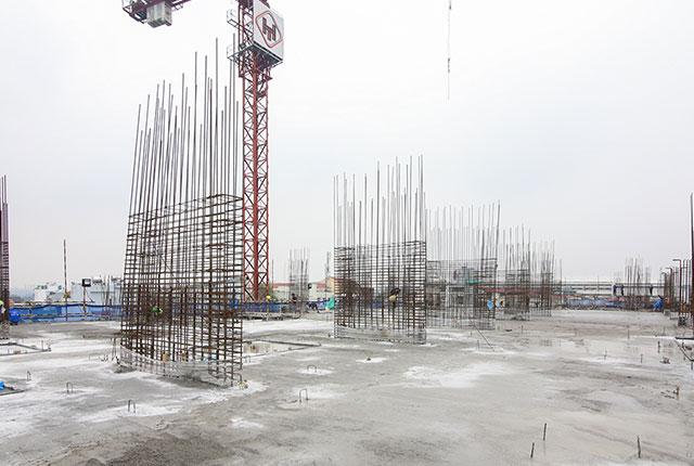 Hoàn thành đổ bê tông sàn tầng 3 block C dự án moonlight
