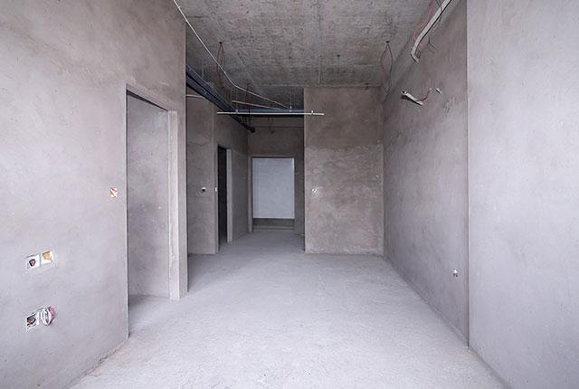 Công tác thi công tô tường căn hộ tầng 20 block B