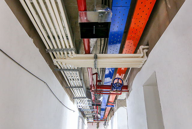 Công tác thi công hệ thống M&E tầng 20 block B