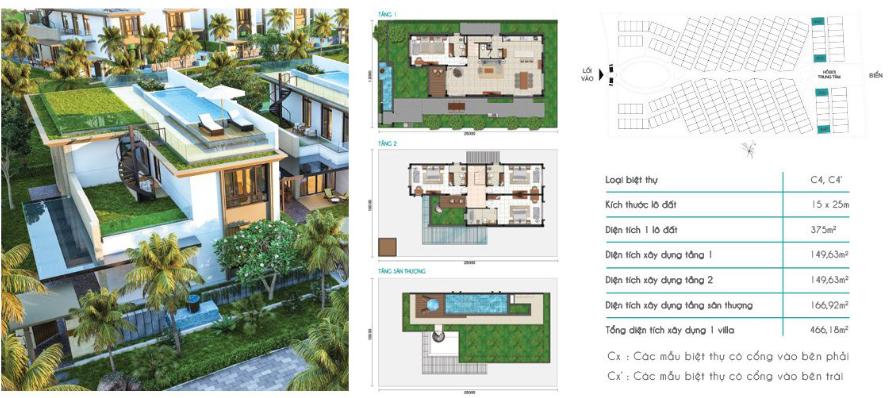 Mẫu Biệt Thự C3 Cam Ranh Mystery Villas