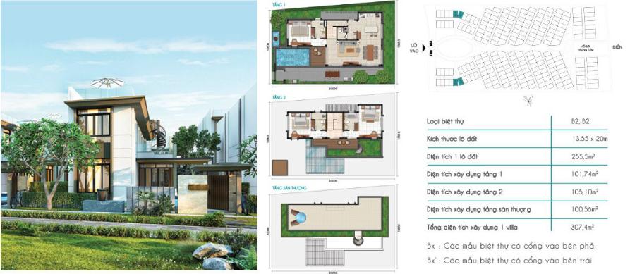 Mẫu Biệt Thự B2 Cam Ranh Mystery Villas