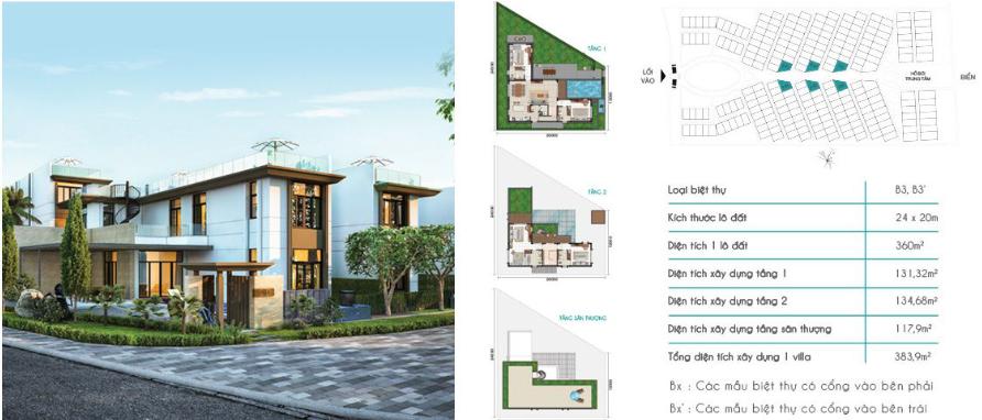 Mẫu Biệt Thự B3 Cam Ranh Mystery