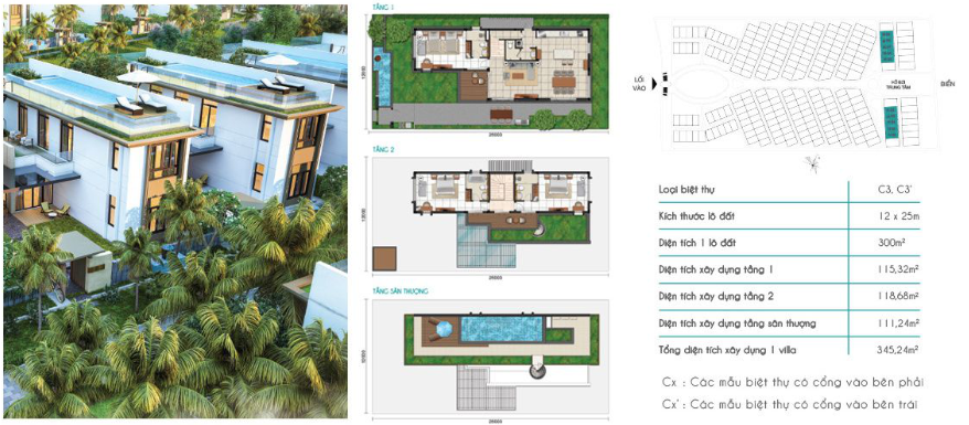 Mẫu Biệt Thự C3 Cam Ranh Mystery Villa