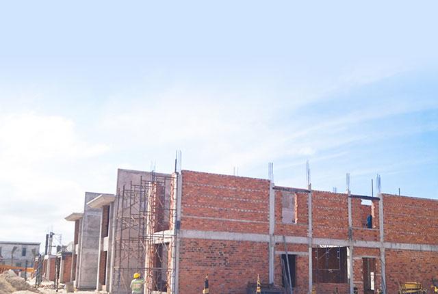 Công tác thi công xây tường tầng 2 khu N.