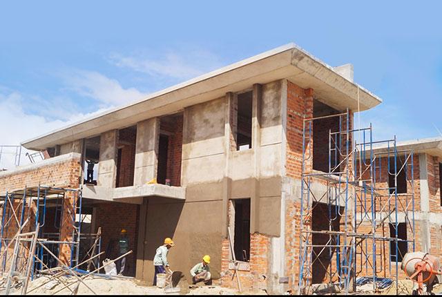 Công tác thi công tô trát tường khu G
