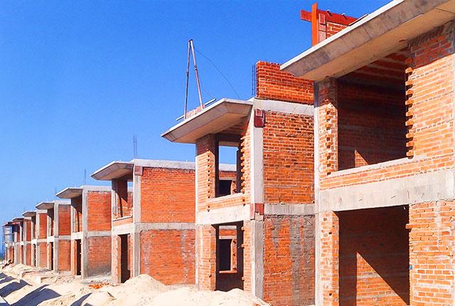 Công tác thi công xây tường khu I