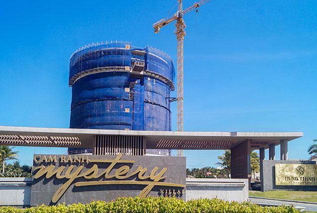 Hình ảnh tổng quan khách sạn dự án đã được cất nóc
