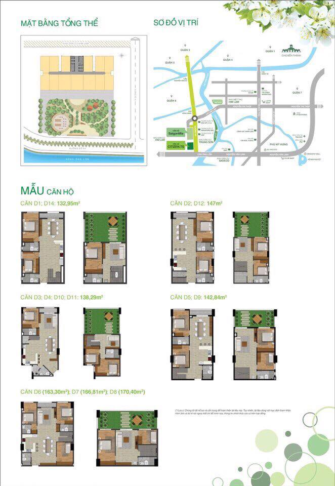mẫu căn hộ duplex citizen cho thuê