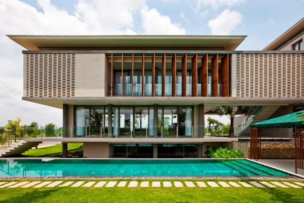 mẫu thiết kế biệt thự long thành đồng nai hung thịnh