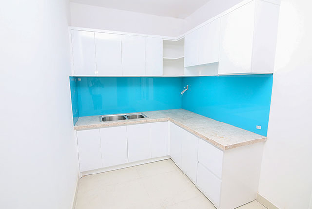 Tiếp tục lắp đặt tủ bếp Block A, B, C, D
