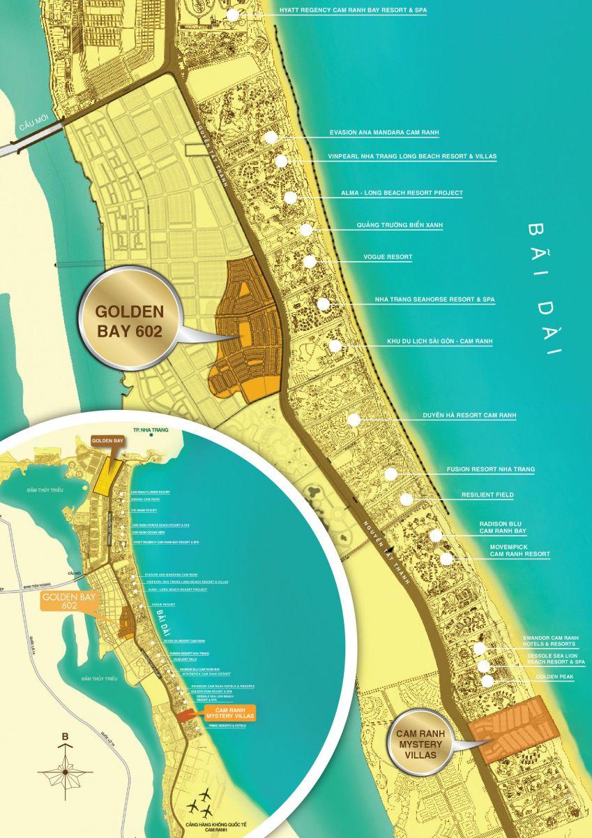 Vị Trí Golden Bay 602 Cam ranh