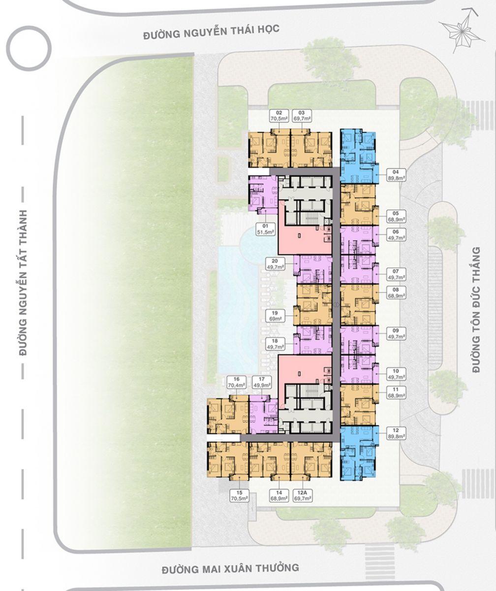 Mặt bằng Tầng 17-30 Grand Center Quy Nhơn