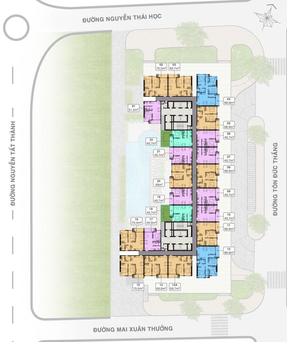 Mặt bằng Tầng 17&31 Grand Center Quy Nhơn