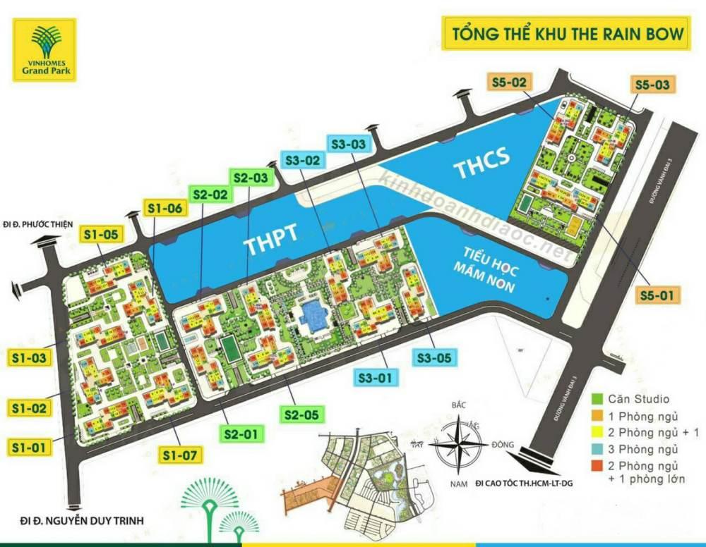 khu the rainbow - vinhomes grand park quận 9