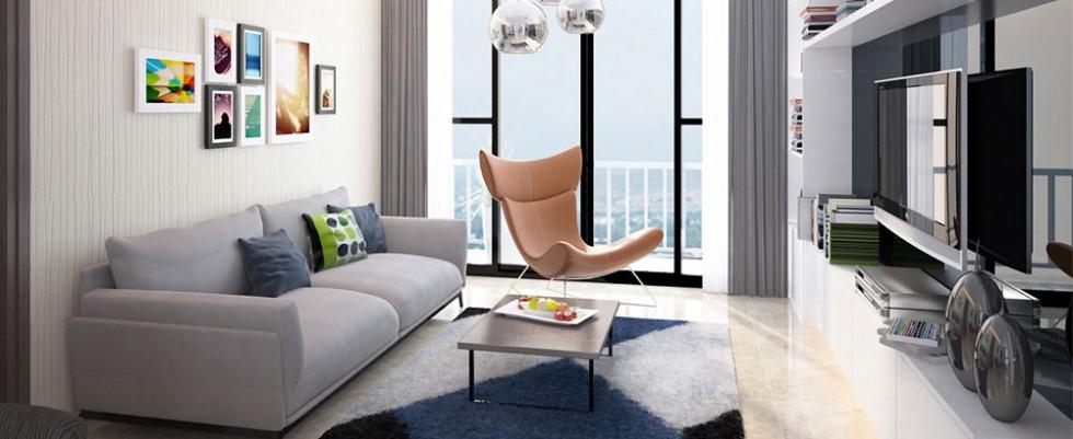 Phòng khách căn hộ Lavita Charm