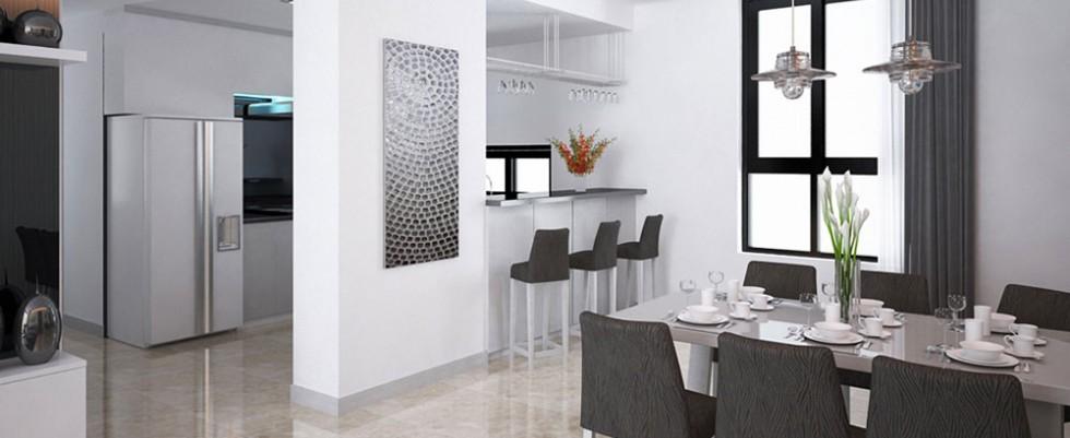 Phòng ăn và khu bếp căn hộ Lavita Charm