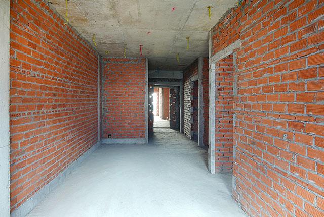 Xây tường bao căn hộ từ tầng 5 đến tầng 11 Block B và Block C