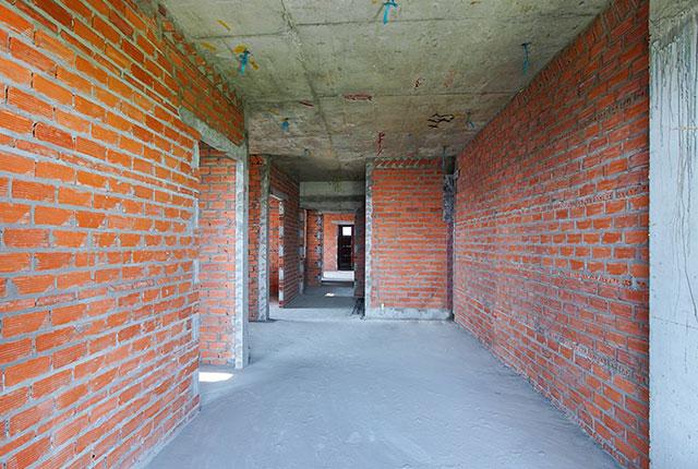 Xây tường bao căn hộ từ tầng 5 đến tầng 9 Block A2