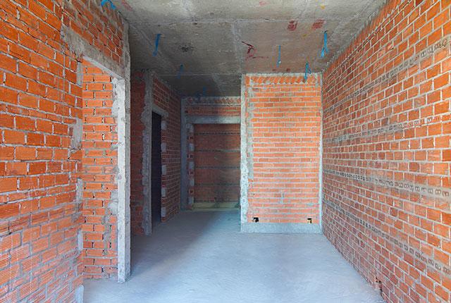 Xây tường bao căn hộ từ tầng 5 đến tầng 14 Block A1, Block A2, Block B và Block C