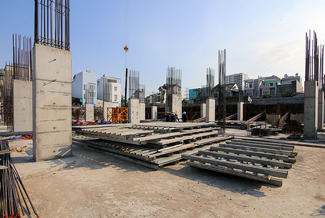 Hoàn thành đổ bê tông sàn tầng hầm Block B và Block C