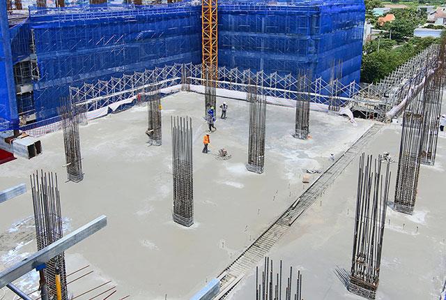 Hoàn thành đổ bê tông sàn tầng 3 Block A2