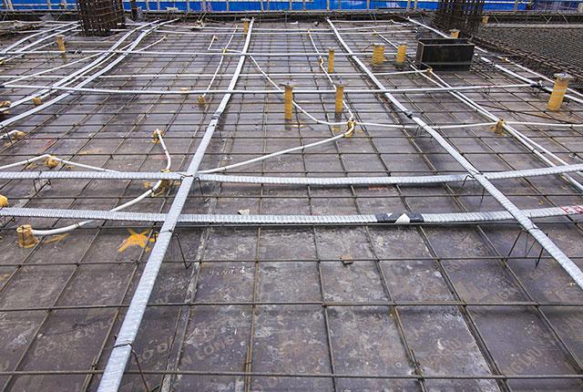 Thi công cốt thép sàn tầng 6 Block B và Block C
