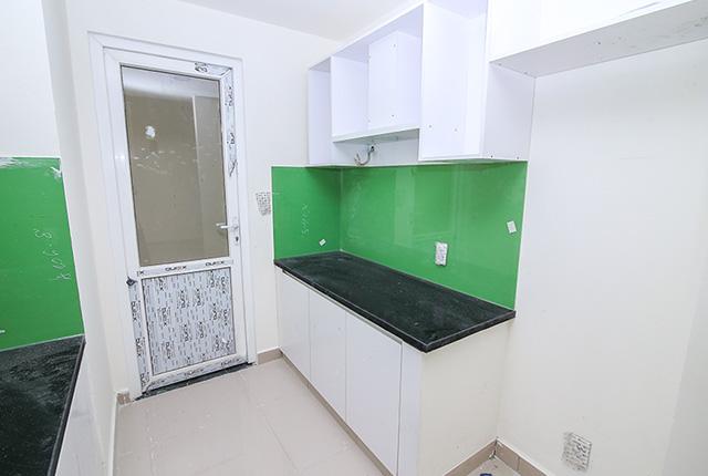 Lắp đặt tủ bếp căn hộ tầng 7 Block A, B