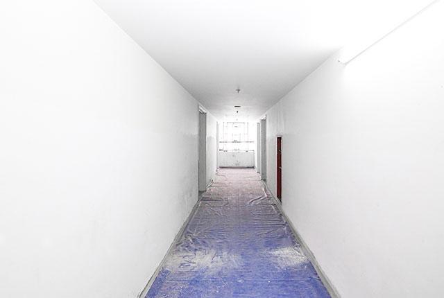 Thi công trần thạch cao hành lang căn hộ tầng 16 Block A, B