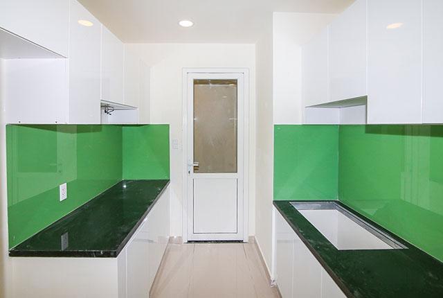 Lắp đặt tủ bếp căn hộ tầng 16 Block A, B