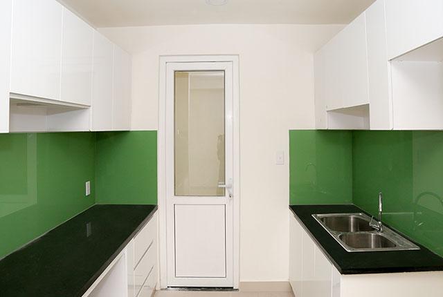 Lắp đặt tủ bếp căn hộ tầng 21 Block A, B